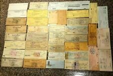 Set 37 Vintage BANK CHECK & VOUCHER Lot Genuine PUERTO RICO Cheques & Vales RARE