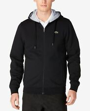 Brand New Mens Black Lacoste Fleece Hoodie Size 6(XL) Very Nice!!