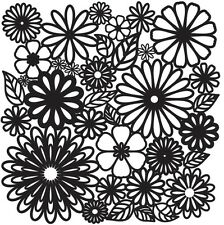 "Crafters Workshop Template 12"" x 12"" Flower Frenzy"