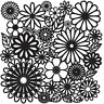 """Crafters Workshop Template 12"""" x 12"""" Flower Frenzy"""