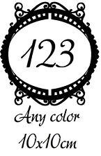 Personalizado Caja de correos, número de casa Vinilo etiqueta extraíble