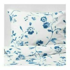 New IKEA BLAGRAN Queen Duvet cover and pillowcase(s), white, blue