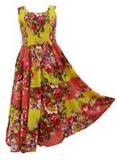 Patchwork Long Boho Maxi Dress Sleeveless Party Evening Size 14 16 18 20 22 24