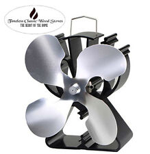 VICTORY 4 Blades Heat powered wood Heater combustion stove Eco Fan Ecofan Nickel