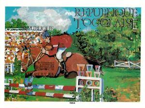 Togo 1984 SC# C498 Olympics Horse Sports, Equestrian Imperf Souvenir Sheet - MNH