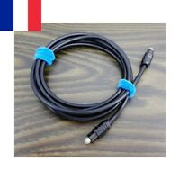 Câble Optique Audio Numérique 1,5M Mètre Digital Toslink Fibre Male Male
