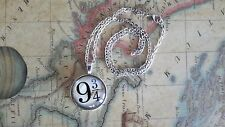 Harry Potter and the Sorcerer's Stone Style Platform 9 3/4 Necklace Pendant