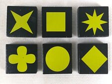 QWIRKLE Lot of 6 YELLOW TILES  Game Pieces Replacement Parts 2010 MindWare