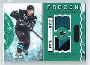 12-13 UD Upper Deck Artifacts Frozen  Logan Couture  /36  Patch--Jersey