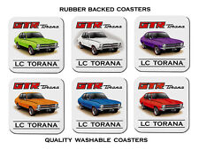 HOLDEN  LC   GTR     TORANA     SET OF 6  QUALITY RUBBER DRINK  COASTERS