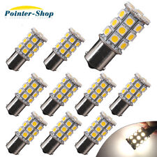 10x Warm White 1156 27SMD RV Camper Trailer LED Interior Light Bulbs 1073 1141
