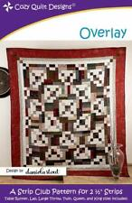 """Overlay  Quilt Pattern - A Strip Club Pattern for 2 1/2"""" Strips by Cozy Quilts"""