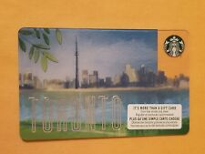 2019 Starbucks Toronto Skyline Empty Gift Card Reloadable RARE!! $0 Balance