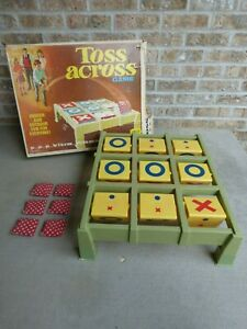 Ideal Toss Across Tic Tac Toe Vintage Family Game 6 Bean Bags Summer Fun RARE