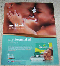 2014 ad page - Pampers Baby Diaper -my black is beautiful- Procter Gamble ADVERT