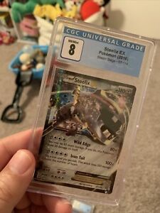 2016 Steelix EX 67/114  Ultra Rare Pokemon Card Graded 8 NM MINT