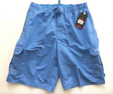 Beverly Hills Polo Club Mens Large Blue Polka Dot Cargo Swim Trunk Shorts New