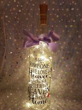 Quand quelqu 'un nous amour est dans le ciel lumineux Bouteille Vin Décoration Memorial Cadeau.