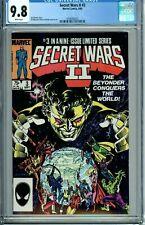 SECRET WARS II 1 2 3 4 5 6 7 8 9 CGC 9.8 WP set BEYONDER BOOM-BOOM TABITHA SMITH