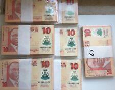 Nigeria 10 Naira Bundle UNC 2011 polymère banknote