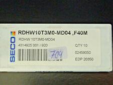 7 Stk. Seco RDHW 10T3MO-MD04 F40M