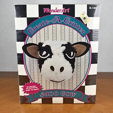 Caron WonderArt Aunt Lydias Create A Critter Crafting Kit Moo Cow No. K-142
