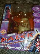 "DOCTOR WHO CLASSIC LARGE 12"" DALEK WHITE NEW SUPER RARE EXCLUSIVE HTF DR WHO"