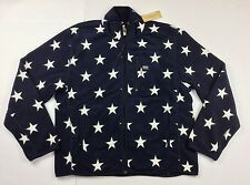 Denim & Supply Ralph Lauren Men Star-Print Fleece Jacket Coat Blue 2XL XXL