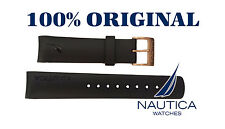 NAUTICA REPLACEMENT BAND BLACK  GOLD BUCKLE N18523 N20065 N22528 A31506 N14536