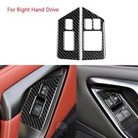 RHD Carbon Car Window Lift Switch panel Decor Frame Cover Trim For GTR R35 08-16