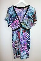 Inspire Brand Woman's Abstract Short Sleeve Day Dress size 22 #AN02