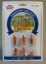 MODEL POWER O GAUGE PRISONERS IN ORANGE JUMPSUITS figure MPW 6194