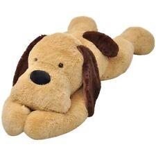 vidaXL Perro de Peluche Grande Marrón Perrito de Juguete Diferentes Tamaños