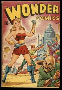 Wonder Comics #17 Alex Schomburg Airbrush Cover -Better Publications 1948 - Fine