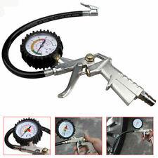 Car Pressure Compressor Gauge Tool Motorbike Truck Tyre Air Inflator Gun & Dial