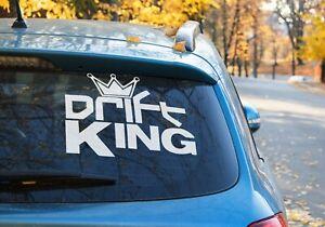 Drift King Crown Vinyl Decal Sticker Car Window Laptop AUS MADE 9 COLORS
