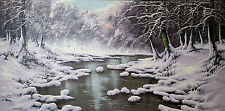 Fine Rare JOSEPH DANDE (b 1911) Hungarian Winter Landscape Original Oil Painting