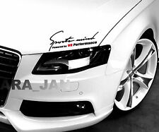 Sports mind V 8 PERFORMANCE Decal Sticker sport car racing hood logo auto emblem