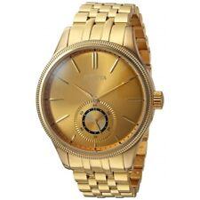 Invicta 25220 42mm Vintage Quartz Stainless Steel Gold Tone Mens Watch