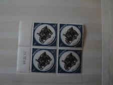 bloc  de 4 timbres coin daté du n ° 91 poste aérienne de monaco