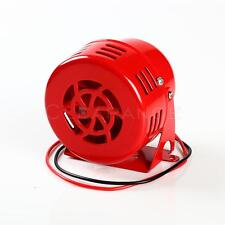 12V Electric Car Truck Motorcycle Driven Air Raid Siren Horn Alarm Loud 50s Red