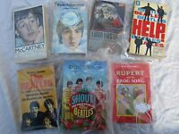 JOB LOT OF BEATLES + RELATED BOOKS paperbacks HELP HARD DAY'S NIGHT ect