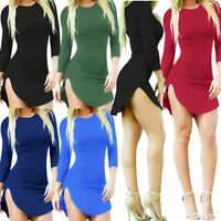 Women Winter Sexy Fashion Evening Cocktail Bodycon Slip Shift Sheath Skirt Dress