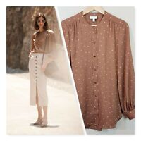[ WITCHERY ] Womens Spot Button Through Shirt Blouse Top | Size AU 10 or US 6
