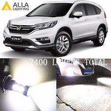 Alla Lighting Fog Light H11 6000K White LED Bulbs Lamps for Honda CR-V CR-Z CRV
