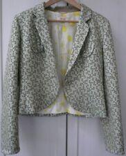 Veste KENZO Femme 40 42 Vert eau Céladon Kaki Fil or clair Doublure pois jaunes