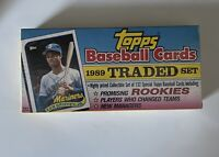 1989 Topps Traded Set  FACTORY SEALED  Griffey Jr. & Deion Sanders Rookie