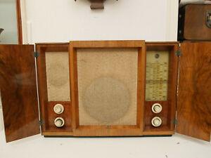 Siemens Kammermusik Schatulle 76W mit, AD1Röhre geprüft auf Funke W20 ,von 1937