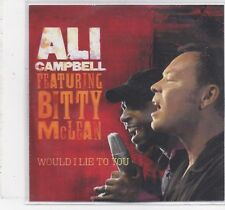Ali Campbell feat Bitty McLean-Would I Lie To You promo cd single