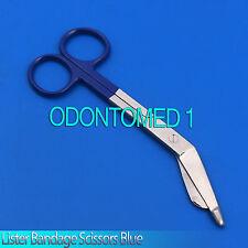 """1 Pcs Lister Bandage Nurse Scissors 7.25"""" Blue Color Handle"""